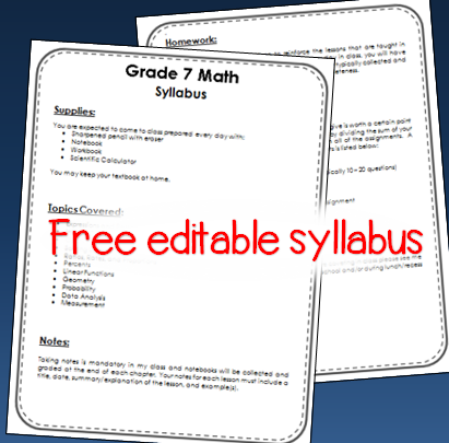 free editable syllabus