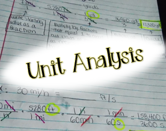 unit analysis in the  middle school math classroom