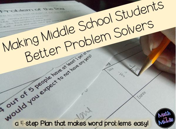 Making Middle School Students Better Problem Solvers  Math in the Middle