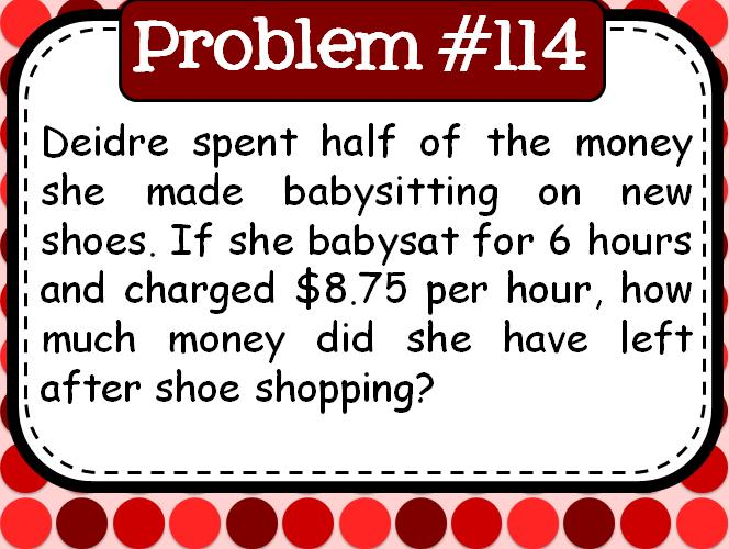 180 Daily Middle School Word Problems| Problem of the Day| Math in the Middle