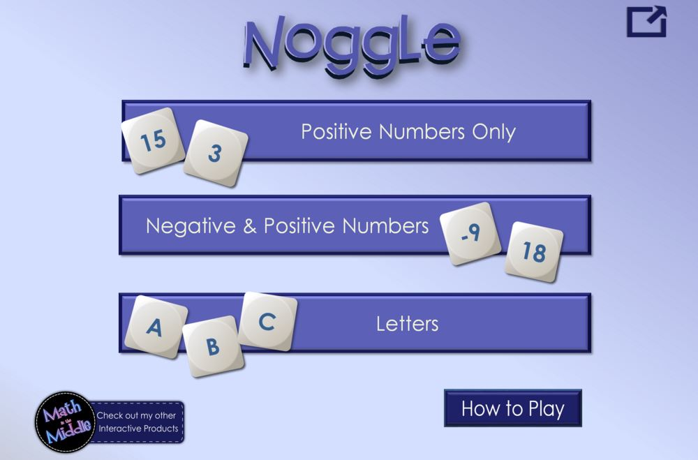 Interactive Noggle Game: Play a Round for Free and Chance to Win ...