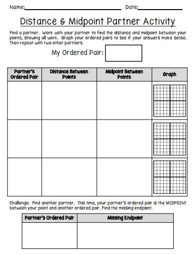 Printables Activity Worksheet Distance And Midpoint Exploration Answers having fun with distance and midpoint math in the middle worksheet pic
