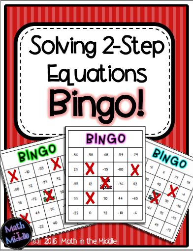2 step equations bingo pic1
