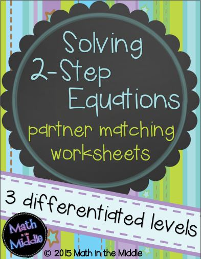 2 step equations partner matching pic1