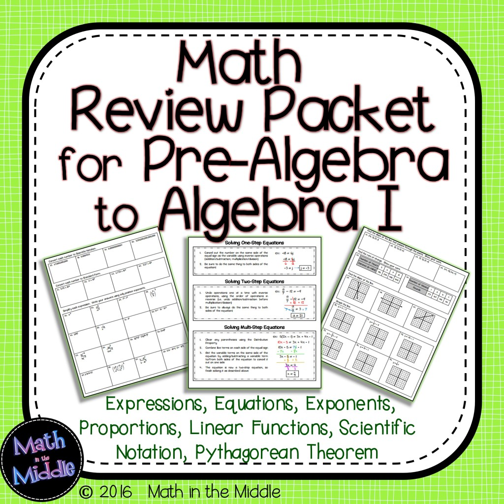 summer review packet for 8th grade math