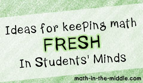 keeping math fresh