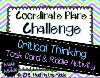 Coordinate Plane Challenge Task Card Activity Image
