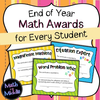 End of Year Math Awards for Every Student Image