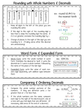 5th Grade Math Review Packet | Resources - Math in the Middle