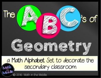 The ABCs of Geometry: Math Alphabet Set for the Secondary Classroom Math Posters Image