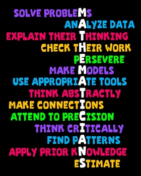 Traits of Mathematicians Classroom Math Poster Image