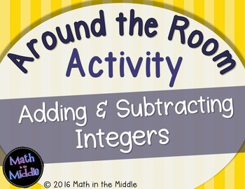 Adding & Subtracting Integers Around the Room Activity Image