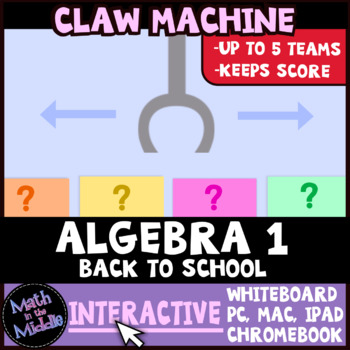 Algebra Back to School Review Claw Machine Interactive Game Image