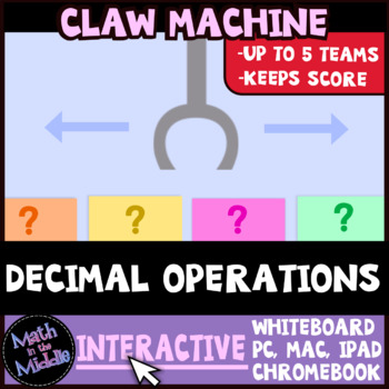 Decimal Operations Claw Machine Interactive Review Game Image