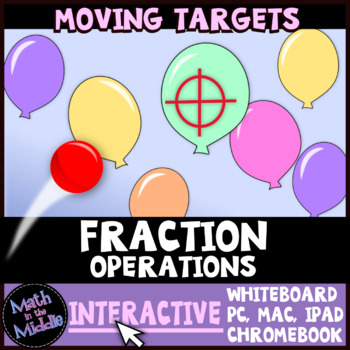 Fraction Operations Moving Targets Interactive Review Game Image