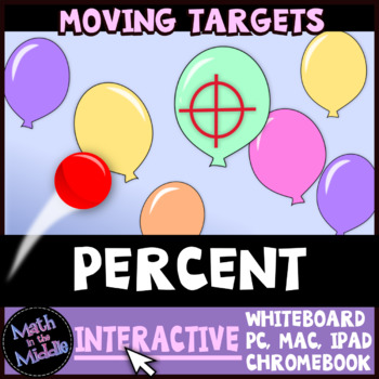 Percent Moving Targets Interactive Review Game Image
