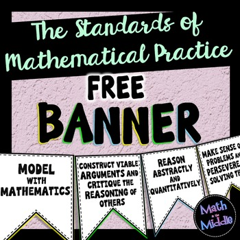 Standards of Mathematical Practice FREE Banner - Math Posters Image