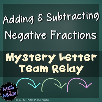 Adding & Subtracting Negative Fractions Team Relay Image