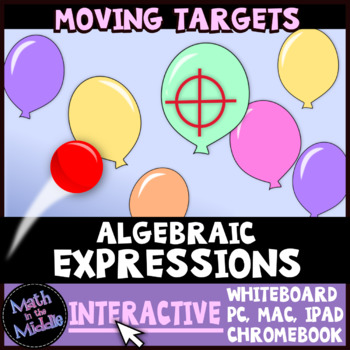 Algebraic Expressions Moving Targets Interactive Review Game Image