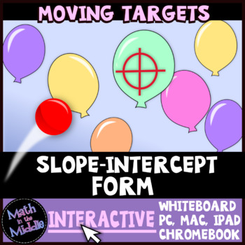 Slope-Intercept Form Moving Targets Interactive Review Game Image