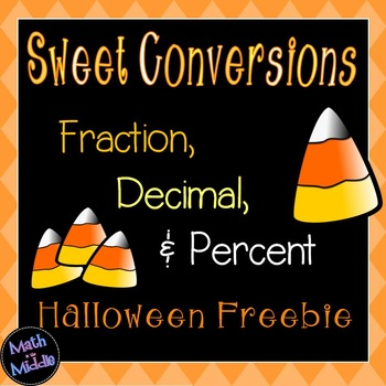 Converting Fractions, Decimals, and Percents (Halloween Freebie) Image