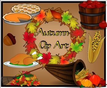 Autumn Clip Art for Personal or Commercial Use Image