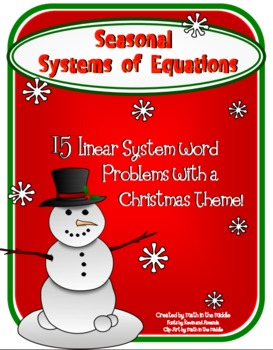 Seasonal Systems of Equations Word Problems Image