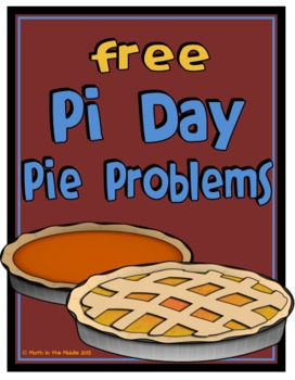 FREE Pi Day Area & Circumference Math Word Problems Image