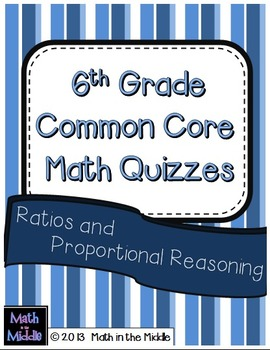 6th Grade Common Core Math Quizzes: Ratios and Proportional Reasoning Image