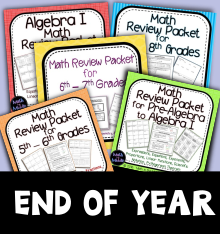 End of the Year Review Packets
