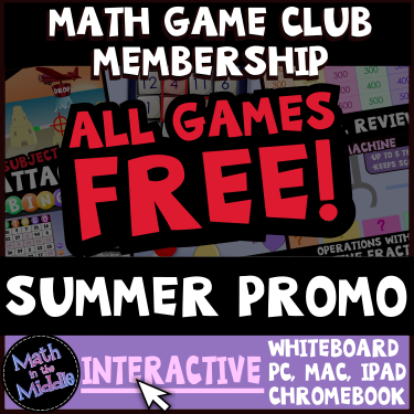 Free Math Review Games summer promo