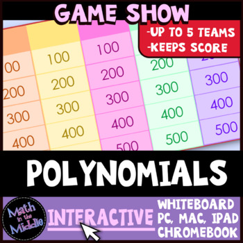 Polynomials Review Game Show Image